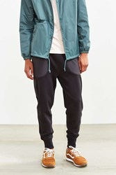 Urban Outfitters Uo Mixed Fabric Track Pant Washed Black