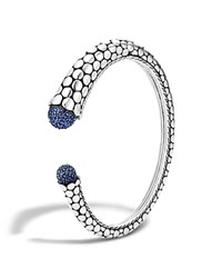 John Hardy Women's Dot Silver Lava Kick Cuff With Blue Sapphire 100 Bloomingdale's Exclusive Blue Silver