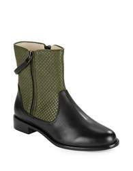 Matt Bernson Axel Quilted Leather Ankle Boots Green