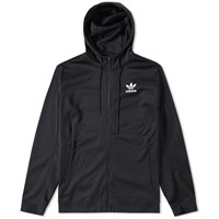 Adidas Stripes Slogan Zip Hoody Black
