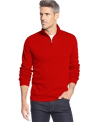 John Ashford Big And Tall Solid Quarter Zip Pullover Ruby Red