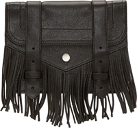 Proenza Schouler Black Fringed Large Ps1 Chain Wallet