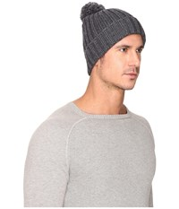 Ugg Ribbed Cuff Hat Charcoal Grey Heather Beanies Gray