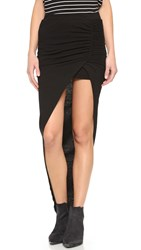 Pam And Gela Side Ruched Maxi Skirt Black