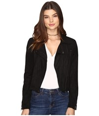 Only Marion Faux Suede Biker Jacket Black Women's Coat
