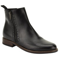 John Lewis Orna Ankle Boots Black Leather