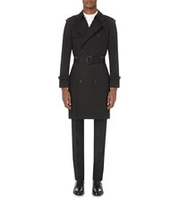 Sandro Trinity Cotton Twill Trench Coat Black