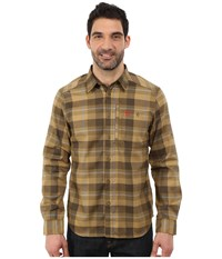 Fjall Raven Fjallglim Shirt New Moss Men's Long Sleeve Button Up Brown