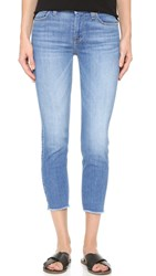 7 For All Mankind Kimmie Crop Jeans Vivid Authentic Blue