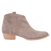 Mint Velvet Claire Block Heel Ankle Boots Taupe Suede