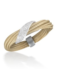 Alor Micro Cable Pave Diamond Wrap Ring Yellow