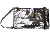 Elliott Lucca Theo Large Smartphone Crossbody Black White Wildflower Cross Body Handbags