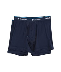 Columbia Cotton Stretch Boxer Briefs 2 Pack Dress Blue Men's Underwear Navy