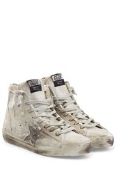 Golden Goose High Top Sneakers With Leather Grey