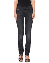 Care Label Denim Denim Trousers Women Black