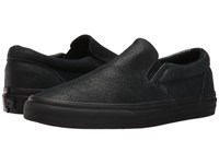 Vans Classic Slip On Patent Crackle Black Black Skate Shoes