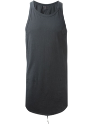 Lost And Found Racer Back Tank Top Grey