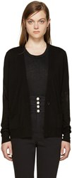 Isabel Marant Black Merino Abilay Cardigan