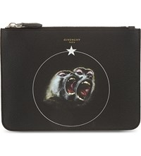 Givenchy Twin Monkey Zipped Pouch Black