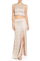 Sequin Hearts Women's Two Piece Lace Gown