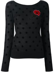 Sonia Rykiel By Polka Dot Flower Jumper Black