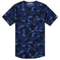 A Bathing Ape Colour Camo Long Length Tee Blue