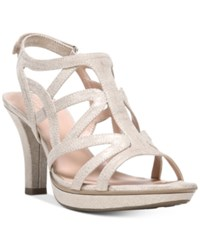 Naturalizer Danya Dress Sandals Women's Shoes Taupe Gold
