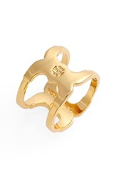 Women's Tory Burch 'Gemini Link' Ring Shiny Gold