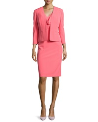 Albert Nipon Draped Sheath Dress W Matching Jacket