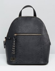 Asos Snake Embossed Mini Backpack Black