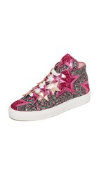 Minna Parikka Stardust High Top Sneakers Green Ruby Multi
