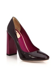 Fendi Colorblock Patent Leather Pumps Purple Multi