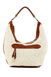 T Shirt And Jeans Lace Hobo Bag White