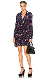 Kenzo Small Tanami Flower Dress In Blue Floral Blue Floral