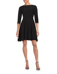 Gabby Skye Ribbed Fit And Flare Dress Black