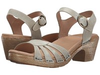 Dansko Marlow Oyster Washed Leather Women's Sandals Gray