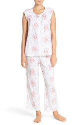 Women's Midnight By Carole Hochman Print Cotton Pajamas State Meadow