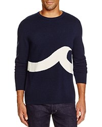 Surfside Supply Wave Cashmere Sweater Navy Ivory