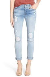 Women's 7 For All Mankind 'Josefina' Destroyed Boyfriend Jeans Santorini Light Aqua