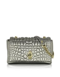 Class Roberto Cavalli True Diva Small Bronze Quilted Eco Leather Shoulder Bag