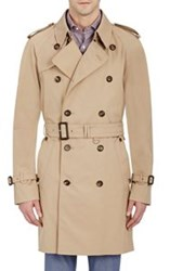 Aquascutum London Aquascutum Men's Double Breasted Belted Trench Coat Nude