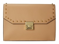 Ivanka Trump Hopewell Clutch Palomino Oil Tan Studded Clutch Handbags