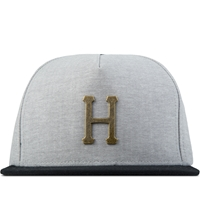 Huf Black Winfield Metal H Snapback Cap