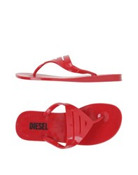 Diesel Footwear Thong Sandals Women Red