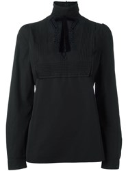 Dsquared2 Embroidered Lace Blouse Black