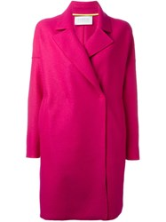 Harris Wharf London Oversize Collar Coat Pink And Purple