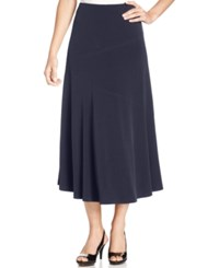 Jm Collection Petite Seamed A Line Skirt