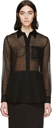 Altuzarra Black Sheer Gingham Chicka Shirt