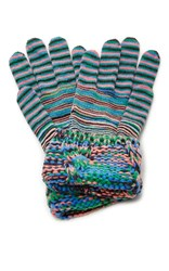 Missoni Striped Gloves Pink Blue Green