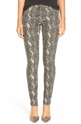 Cj By Cookie Johnson 'Joy' Snakeskin Print Skinny Jeans Brown
